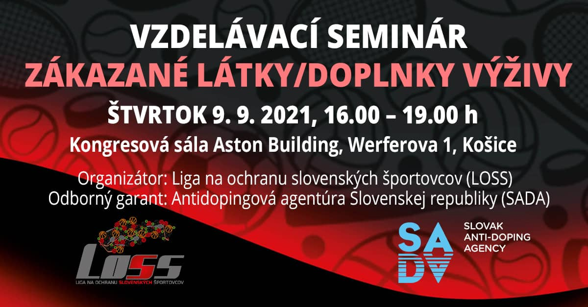 Blíži sa vzdelávacie podujatie v Košiciach v spolupráci s Antidopingovou agentúrou SR